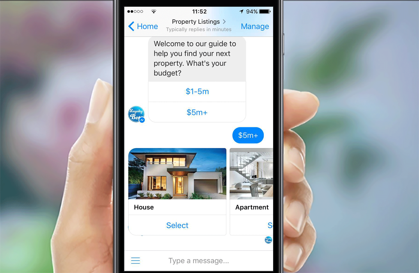 Real Estate Chatbot - Loyalty Apps