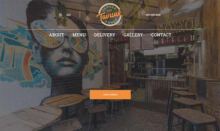 restaurant web designer london