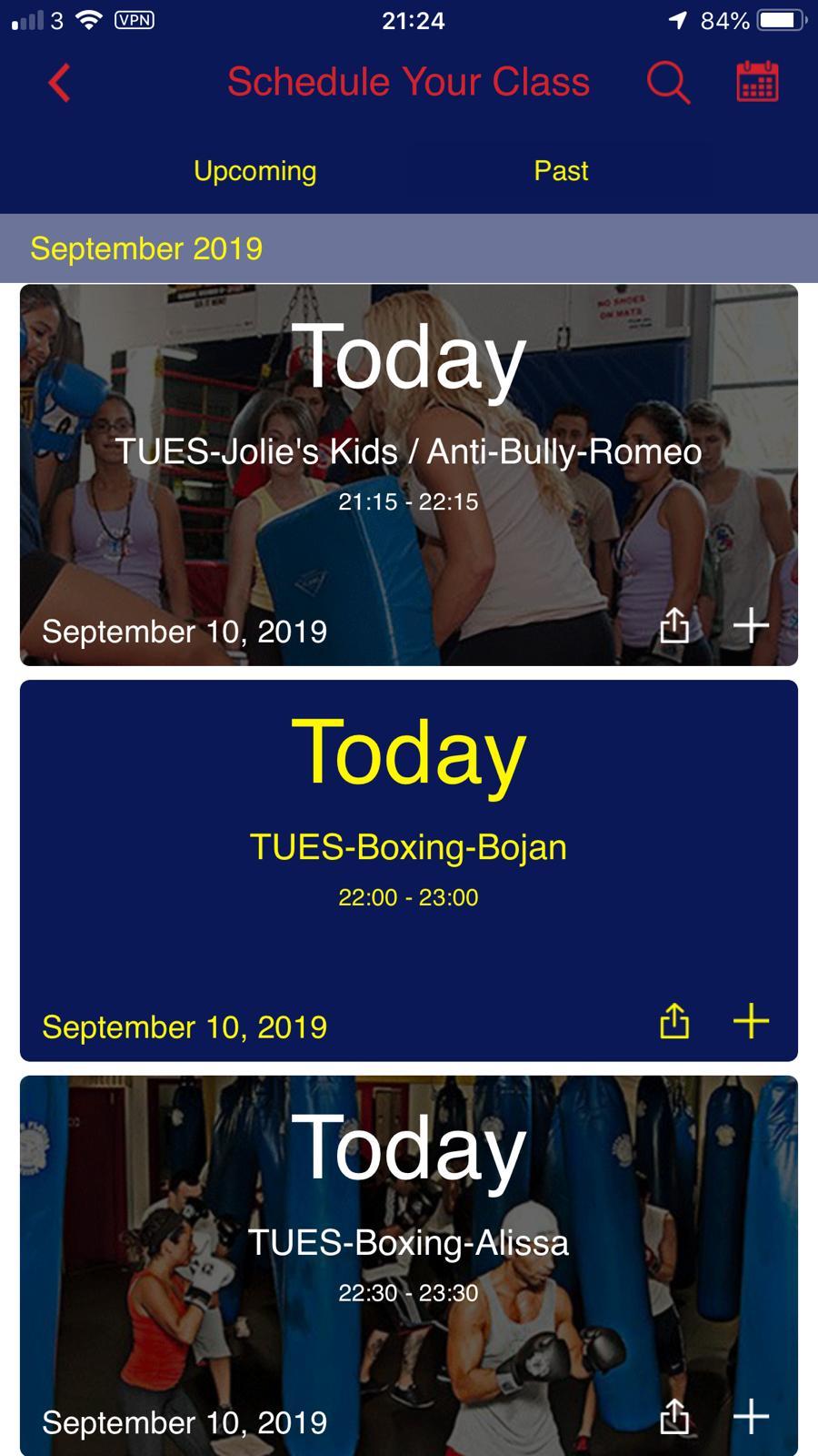gym schedule app