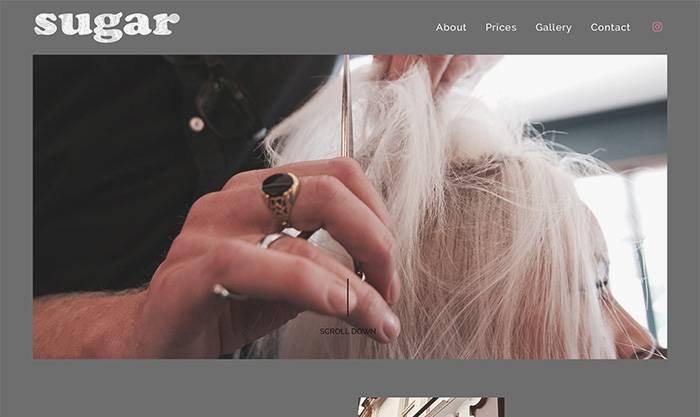 salon web designer london