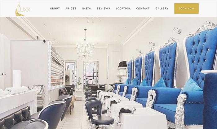 salon website developer london
