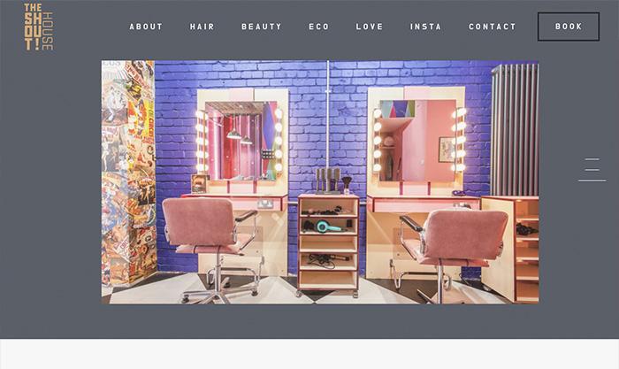 salon website designer london